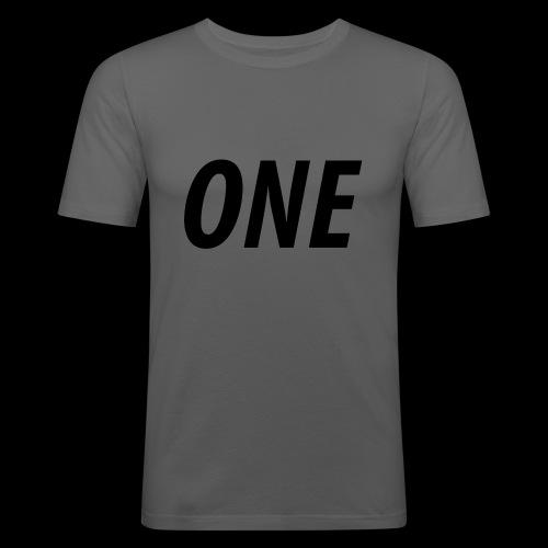 WEAREONE x LETTERS - Mannen slim fit T-shirt