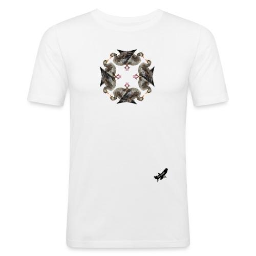 'Goose Circle' by BlackenedMoonArts - Herre Slim Fit T-Shirt