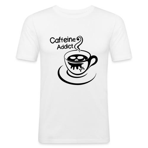 Caffeine Addict - Mannen slim fit T-shirt