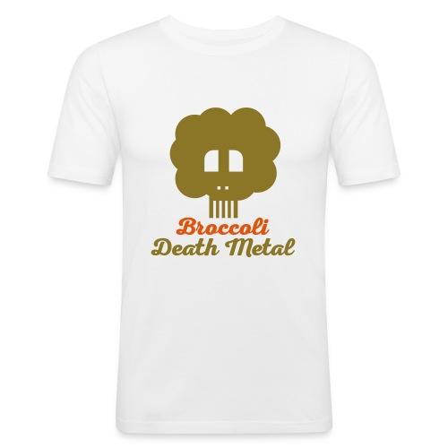 broccoli_death_metal_-10--ai - Männer Slim Fit T-Shirt