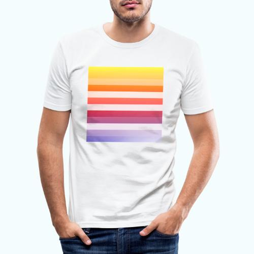 Rainbow Abstract Acrylic Painting - Men's Slim Fit T-Shirt