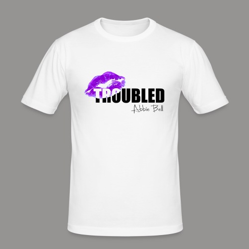 Official TROUBLED blk LOGO - Men's Slim Fit T-Shirt