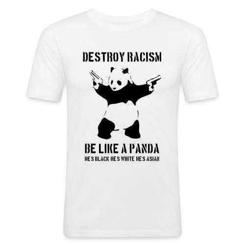 ZNISZCZ RASIZM - Obcisła koszulka męska