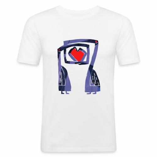 Love birds - Mannen slim fit T-shirt