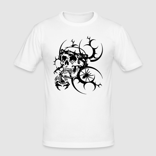 Tattoo Totenkopf - Männer Slim Fit T-Shirt