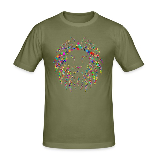 Ausdruck des Löwen - Männer Slim Fit T-Shirt