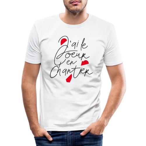 coeur en chantier - T-shirt près du corps Homme