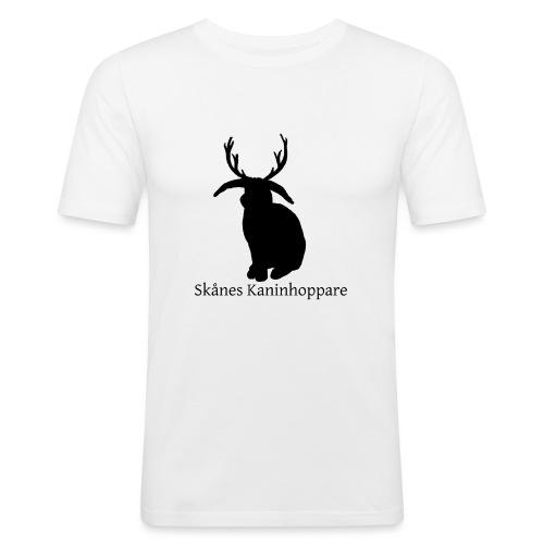 Herr t-shirt - Svart logga - Slim Fit T-shirt herr