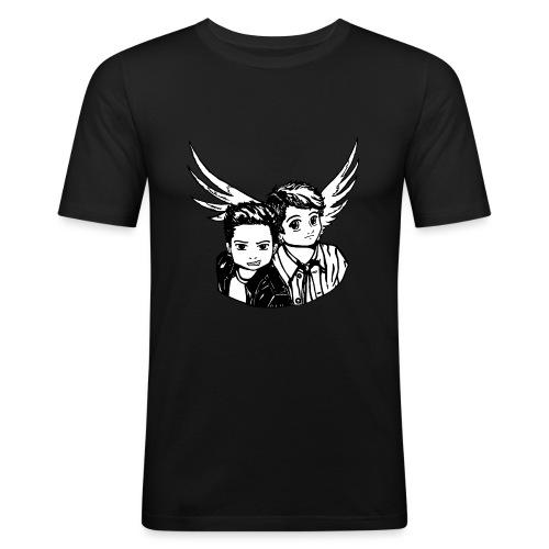 Destiel i sort/hvid - Herre Slim Fit T-Shirt