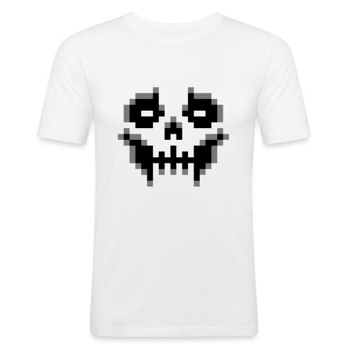 pixel-skull - Men's Slim Fit T-Shirt