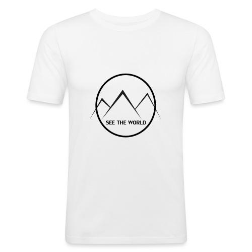 Lake The World - Men's Slim Fit T-Shirt
