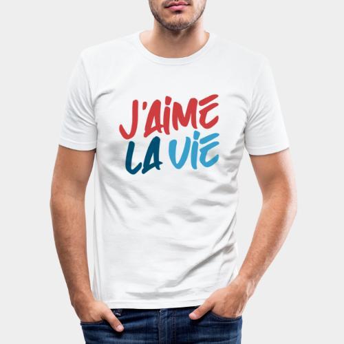 Ich liebe das Leben - T-shirt près du corps Homme