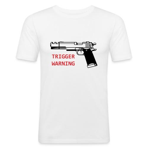 Anti-Snowflake Trigger Warning Collection - Men's Slim Fit T-Shirt