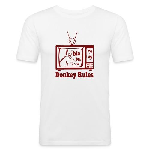 Donkey Rules - Maglietta aderente da uomo