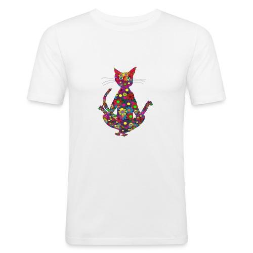 Woodstock Yoga Cat - Männer Slim Fit T-Shirt