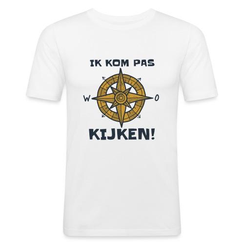 ik kompas kijken - slim fit T-shirt