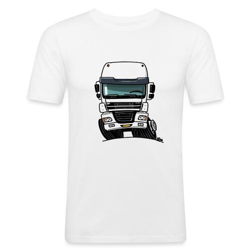 0810 D truck CF wit - slim fit T-shirt