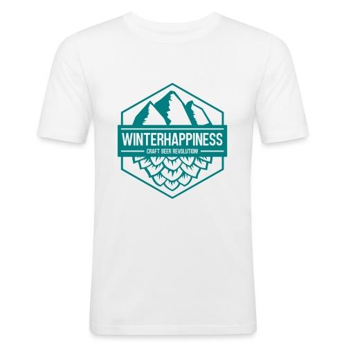 Winterhappiness Logo - Slim Fit T-skjorte for menn