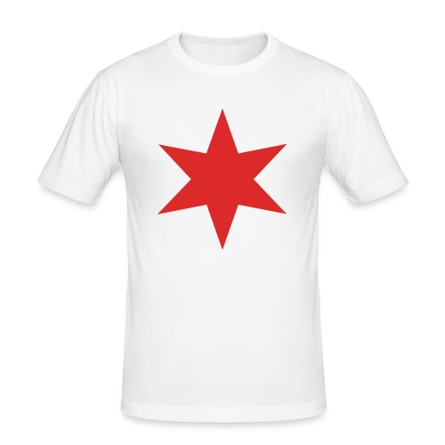 Red Chicago Star - Men's Slim Fit T-Shirt