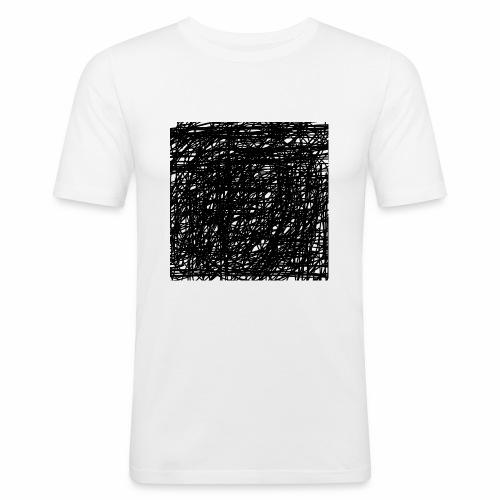 Kritzel-Design - Männer Slim Fit T-Shirt