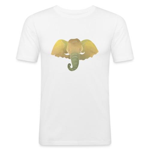 Elefant - Elefantenkopf - Männer Slim Fit T-Shirt
