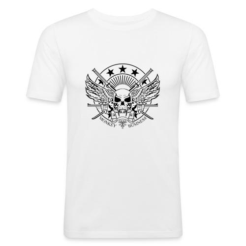 font transparent 2 - T-shirt près du corps Homme