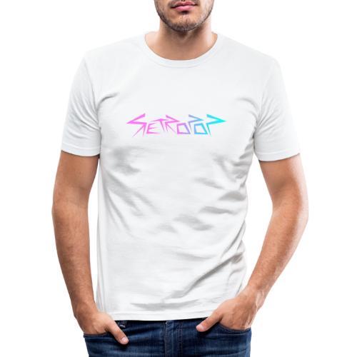 Retropop - Logo värillinen - Miesten tyköistuva t-paita