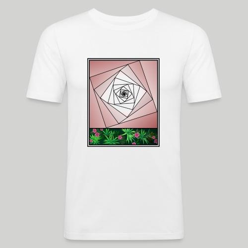 Unendlichkeitsrose - infinity rose - Männer Slim Fit T-Shirt