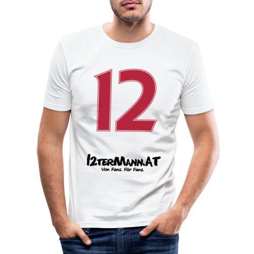 12termann mitfans - Männer Slim Fit T-Shirt