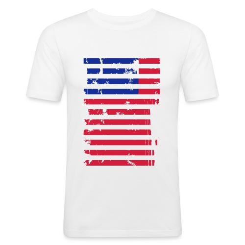 FlagUSA Casual - Camiseta ajustada hombre