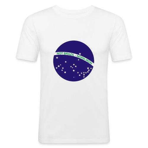 Not Brazil - Norn Iron (Brazil flag) - Men's Slim Fit T-Shirt