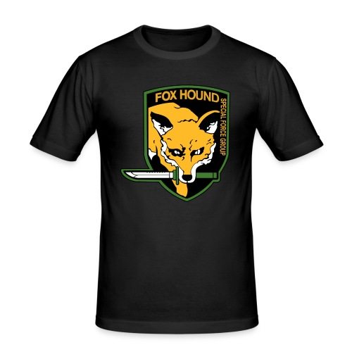 Fox Hound Special Forces - Miesten tyköistuva t-paita
