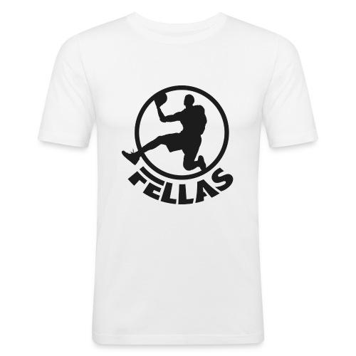 Logo nero - Maglietta aderente da uomo