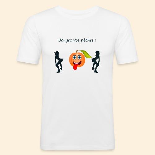 Bougez vos pêches ! - T-shirt près du corps Homme