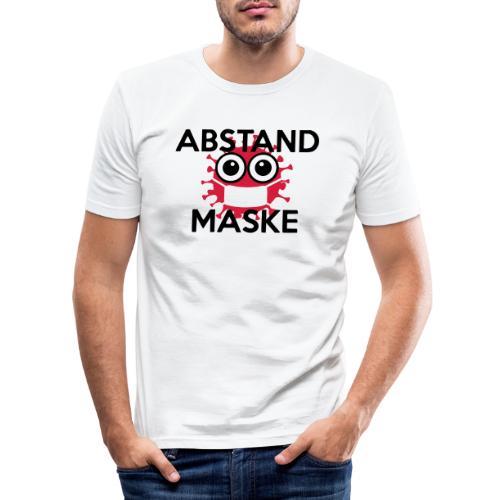 Mit Abstand und Maske gegen CORONA Virus - schwarz - Männer Slim Fit T-Shirt