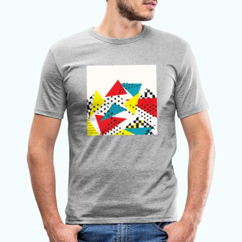 Abstract vintage collage - Men's Slim Fit T-Shirt
