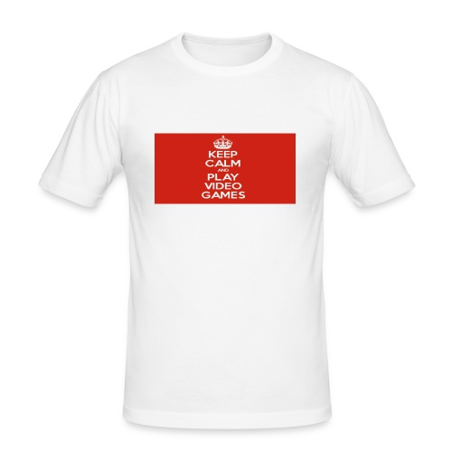 play does games - Slim Fit T-skjorte for menn