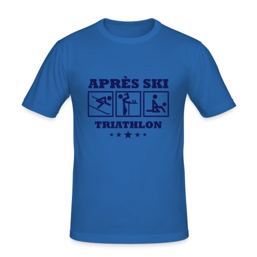 Apres Ski Triathlon | Apreski-Shirts gestalten - Männer Slim Fit T-Shirt