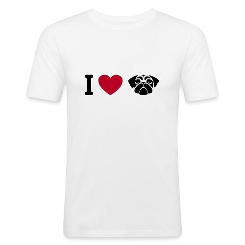 I love mops - Männer Slim Fit T-Shirt