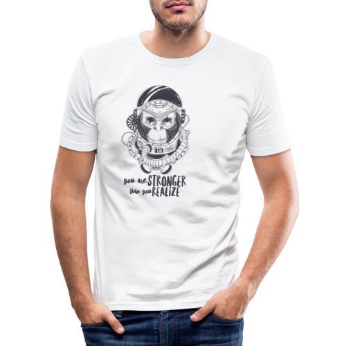 you are stronger - Männer Slim Fit T-Shirt
