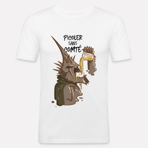 Picoler sans Comté ! - T-shirt près du corps Homme