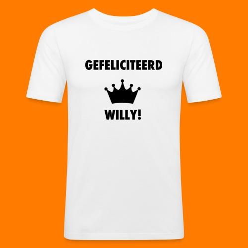 Gefelicteerd Willy - Mannen slim fit T-shirt