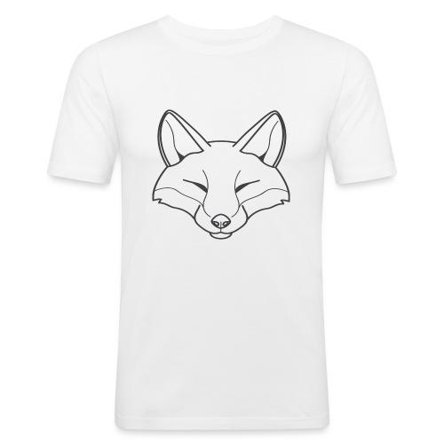 Fox logo - Männer Slim Fit T-Shirt