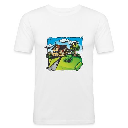 Willofs Logo farbig - Männer Slim Fit T-Shirt