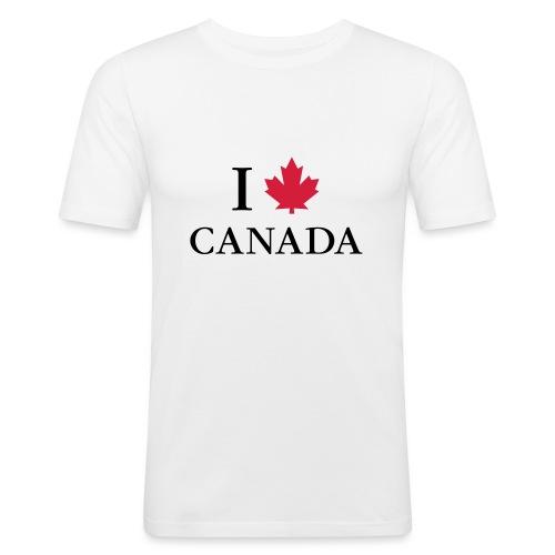 I love Canada Ahornblatt Kanada Vancouver Ottawa - Männer Slim Fit T-Shirt