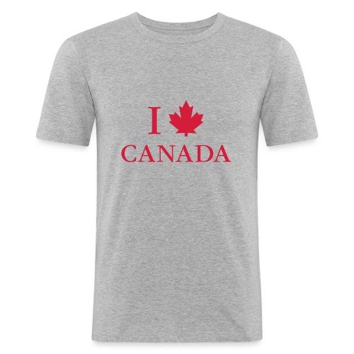 I love Canada Ahornblatt Kanada Vancouver Ottawa - Men's Slim Fit T-Shirt