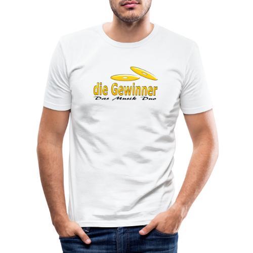 Das Klassische Schwarze - Männer Slim Fit T-Shirt