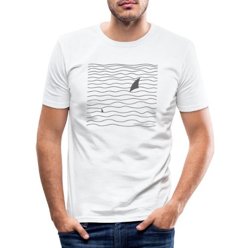 Windsurfer & Shark (black) - Männer Slim Fit T-Shirt