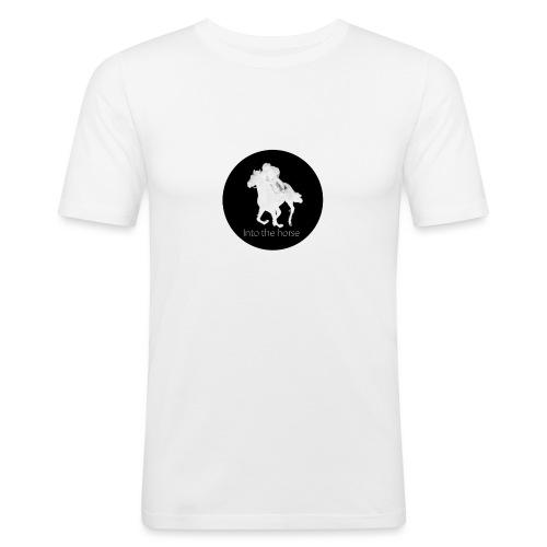logo_intothehorse - Maglietta aderente da uomo