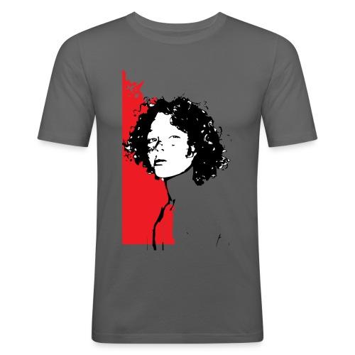 L'enfant rouge représente la terre rouge d'Afrique - T-shirt près du corps Homme